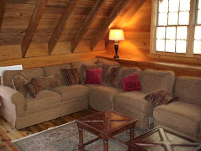 Photo: The upstairs seating area in the lodge.