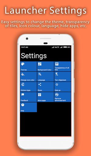 8.1 Metro Look Launcher 2018 - Theme, Smart, DIY 3.0 screenshots 20