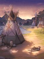 荒野の夕暮