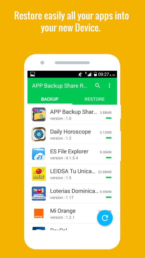 App Backup Share & Restore- screenshot