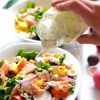 Easy Salmon Salad with Greek Yogurt Dill Dressing Recipe