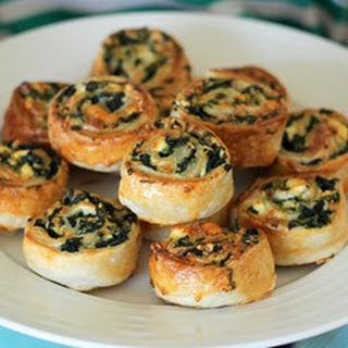 Mini Spinach and Feta Pinwheels