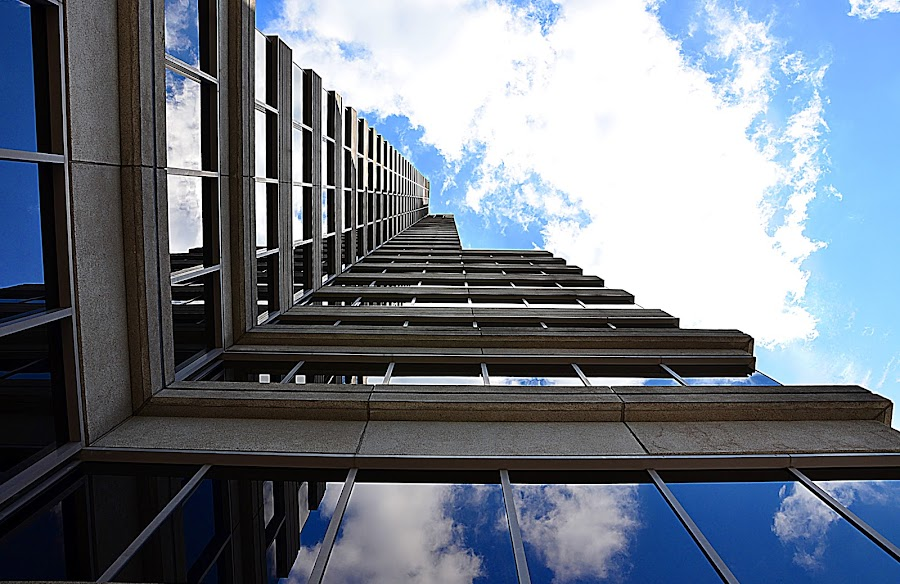 The Sky's the Limit by Steve Wilking - Buildings & Architecture Other Exteriors ( , #jipchallenge #paisley #photography, shapes geometric patterns , looking, up, images, sky, open, contest, challenge )