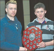 Photo: Conor Floyd, Newport Juvenile Player of the Year 2011 with Padraig Maher