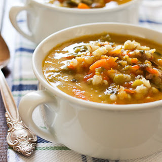 Hearty Butternut Squash Barley Soup.