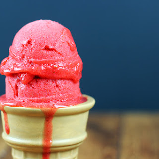 3 Ingredient Fresh Strawberry Sorbet.