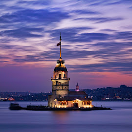Maiden's Tower by Arda Erlik - Buildings & Architecture Public & Historical ( sony, long exposure, istanbul, turkey, maiden's tower )