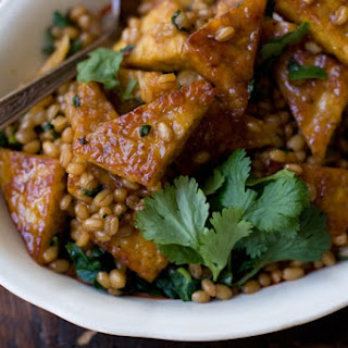 Orange Pan-glazed Tempeh.