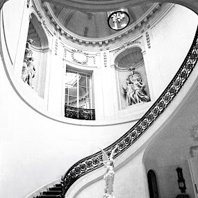 by Debashis Mukherjee - Artistic Objects Other Objects ( black and white, interior, building, monotone )