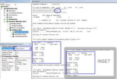 ANSYS Реакции в балочных соединениях, указанные в выводе решателя (Solver Output) в местных системах координат балочных элементов