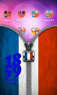 Download France Flag Zip Screen Lock APK for Android