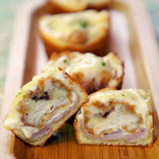 Chicken Cordon Bleu Cupcakes