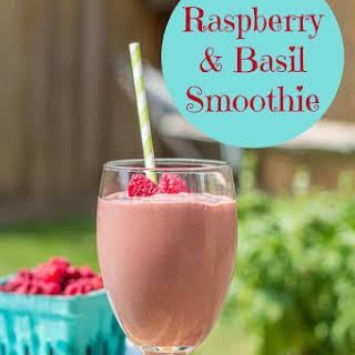 Raspberry & Basil Smoothie.