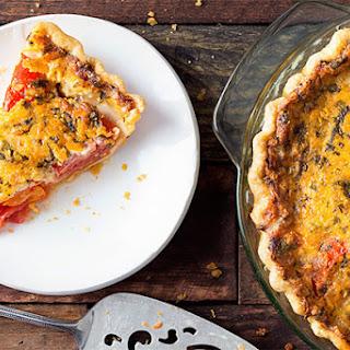 Tomato-Cheddar Pie