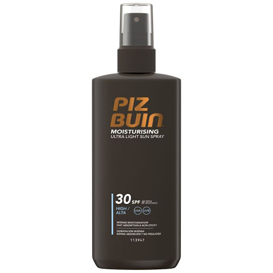 Piz Buin Moisturising Ultra Light Sun Spray SPF 30, 200 ml