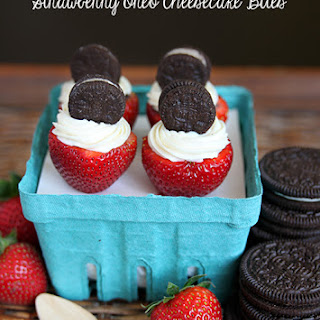 Oreo Cheesecake Stuffed Strawberries