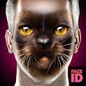 What are you cat face id scanner prank icon