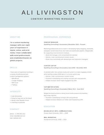 Ali Q. Livingston - Resume Template
