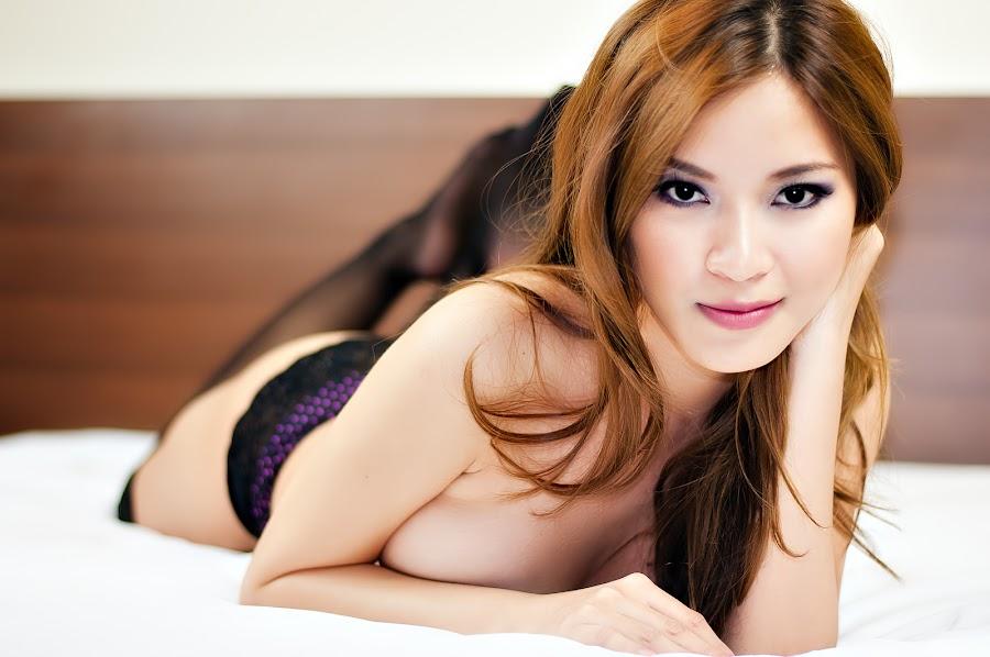 Natalie Hayashi (FHM Model) - Orgasmic Eyes  by Gian Mark Quidasol - People Portraits of Women