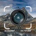 GPS Coordinates. Photo Stamp Camera icon