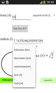Circle Calculator - náhled