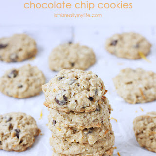 Healthy Orange Oatmeal Chocolate Chip Cookies.