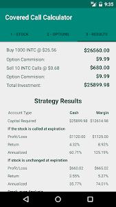 Covered Call Calculator screenshot 2