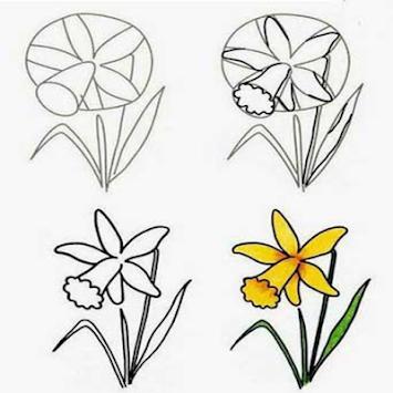 Cara Menggambar Bunga Sepatu Langkah Demi Langkah | Semburat Warna