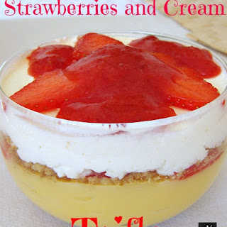 Strawberries and Cream Trifle.