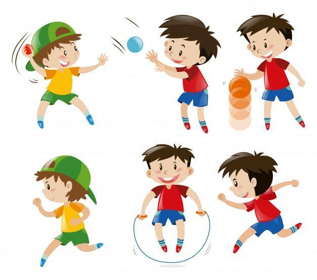 """Resultat d'imatges per a """"niños jugando a pelota y saltando"""""""