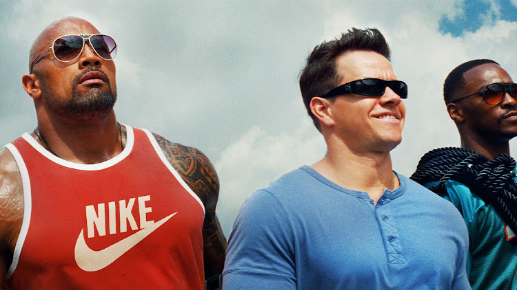 'Pain & Gain' is a 2013 dark comedy/crime caper starring Dwayne Johnson, Mark Wahlberg and Anthony Mackie.