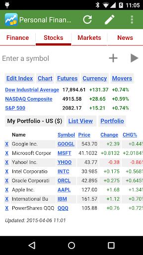 pFinance screenshot 2