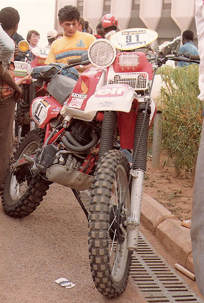 Jacky Barat XR550R Paris Dakar 1983