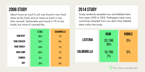 Rate of Salmonella contamination in Raw Dog Food is between 6-7%
