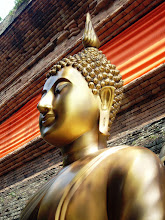 Photo: A Knowing Look #sacredsunday Curated by +Charles Lupica +Manfred Berndtgen +Robyn Morrison +Margaret Tompkins & +Sherrie von Sternberg and #zensunday Curated by +Charlotte Therese Björnström +Simon Kitcher & +Nathan Wirth :- This is an outdoor golden bronzed statue of Buddha at Wat Lok Molee (วัดโลกโมฬี) in the ancient northern city of Chiang Mai, Thailand. It sits quietly at the foot of a giant brickwork Chedi / Stupa. The peacefulness of these temples is hard to explain ... they are beautiful to visit, beautiful to photograph and simply beautiful to behold.  Photography by Justin Hill ©