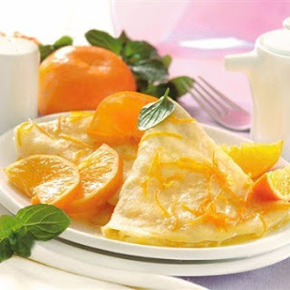 Whole Grain Pancakes With Bananas And Tangerines