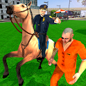 Offroad Police Horse Gangster Chase: City Cop Duty icon