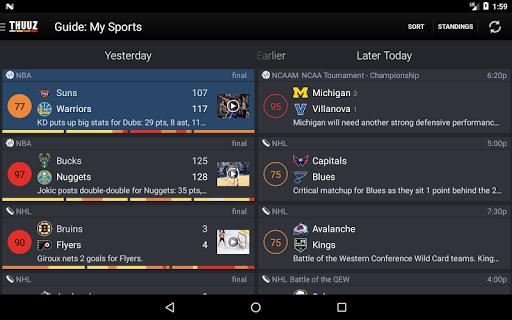 Thuuz Sports - Apps on Google Play