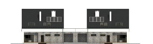 Bernikla z garażem 2-st. bliźniak A1-BL1 - Elewacja tylna