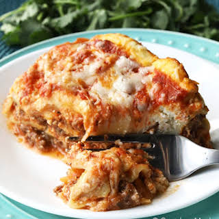 Easy Cheesy Crock-Pot Lasagna.