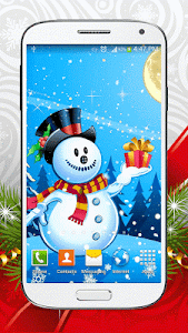 Cute Snowman Live Wallpaper HD screenshot 6