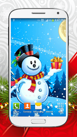android Cute Snowman Live Wallpaper HD Screenshot 6