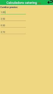 App Calculadora de catering APK for Windows Phone