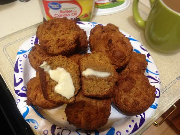 Wheat Germ Molasses Muffins.  Great Warm With Butter And A Cup Of Coffee.