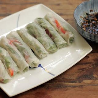 Vietnamese Summer Rolls with Black Bean Garlic Dipping Sauce