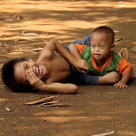 Brothers by Yanti Hadiwijono - Babies & Children Child Portraits