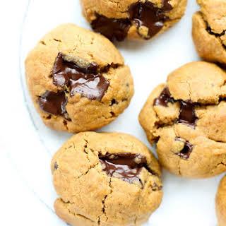 Flourless Peanut Butter Chocolate Chunk Cookies.
