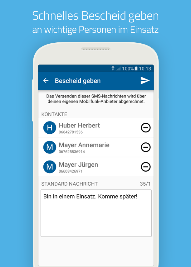 blaulichtSMS – Screenshot