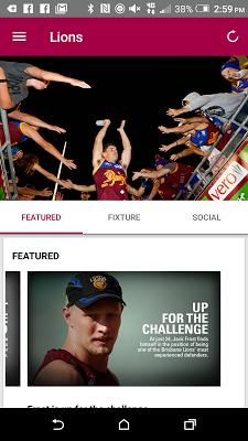 Brisbane Lions Official App - screenshot