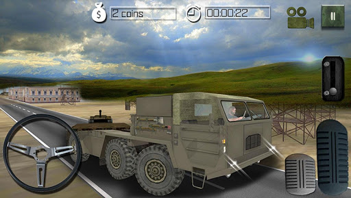 Transporter Truck 3D Army Tank